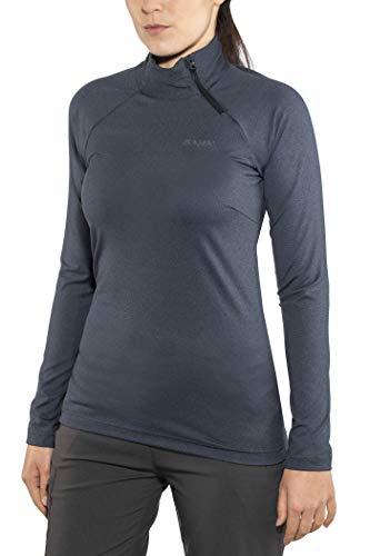 Bergans Stranda Half Zip Femmes T-Shirt à Manches Longues Fonctionnel Gris Gris S