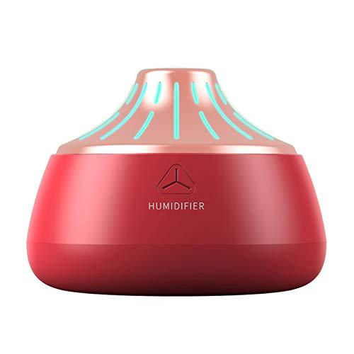 Gesh Aroma Difusor de aceite esencial portátil humidificador de aire 200 ml USB purificador de aromaterapia para dormitorio, coche, hogar, color rojo