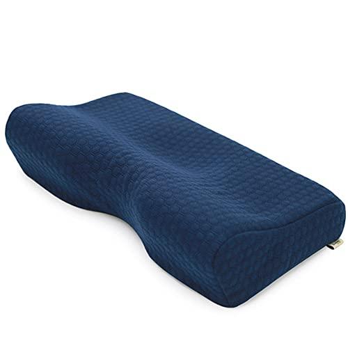 WWZZ Almuerzo Remoto, Utilizado para Soporte De Cuello De Automóviles Y Aviones, con Bolsa De Viaje - Accesorios De Viaje De Burbujas De Memoria para Dormir Pequeño (Azul)