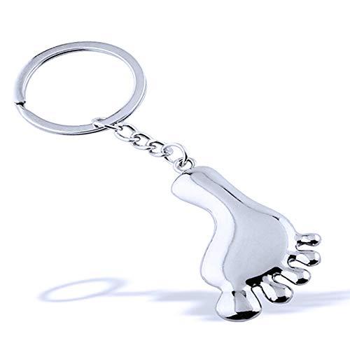 XCSSKG Personalisierter Schlüsselanhänger mit kleinen Füßen.