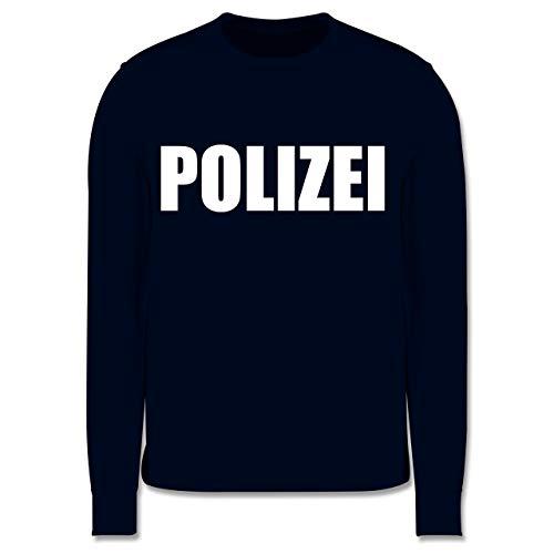 Shirtracer Karneval & Fasching Kinder - Polizei Karneval Kostüm - 140 (9/11 Jahre) - Navy Blau - Polizei Pullover Kinder 116 - JH030K - Kinder Pullover