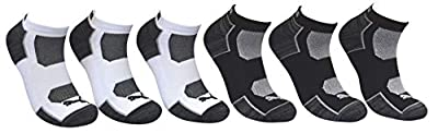 Puma Men's 6 Pack Low Cut Sportstyle Socks, Grey/Black/White, Sock Size 10-13 P114391-107 from Puma