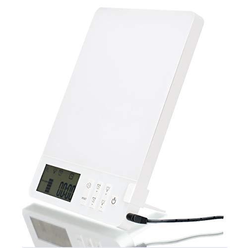 PYXZQW SAD-Lichter, Lichttherapie-Tageslichtlampe 10000 Lux, SAD-Lampe für emotionale Phototherapie, einstellbare Helligkeit, weiße/Blaue Farbe, 23 W.