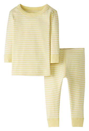 Moon and Back by Hanna Andersson Baby/Toddler 2-Piece Organic Cotton Long Sleeve Stripe Pajama Set,...