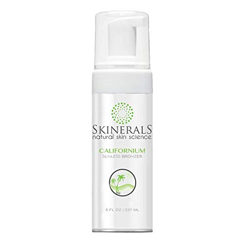 Skinerals Californium Self Tanner Mousse - Sunless Tanning Lotion with Organic and Natural Ingredients for Fake Tan, 8 Oz Bottle