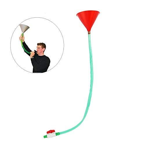 Válvula de embudo para embudo de cerveza, 1 m, para juego de fiesta