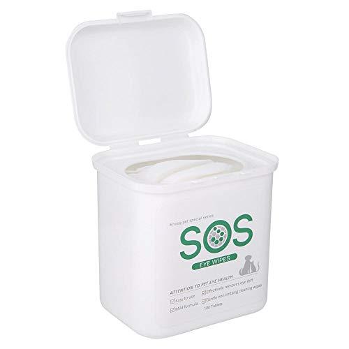 Toallitas limpiadoras para mascotas, 100 unidades, para perros, gatos, toallitas húmedas y mascotas, elimina las manchas de lágrimas