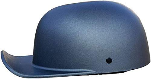 QDY Motorcycle Half Helmet Skull Cap, Light Baseball Cap Modeling Retro Open-Face Helmet for Men and Women Dot Approved, Bike Cruiser Chopper Moped Scooter ATV Helmet, Matt Black Grey 2,XL