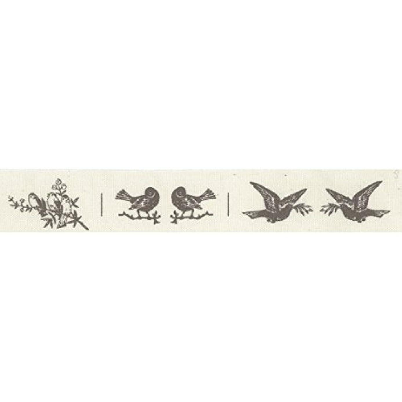 Vaessen Creative Printed Ribbon, Fabric, Ecru/Black, One Size
