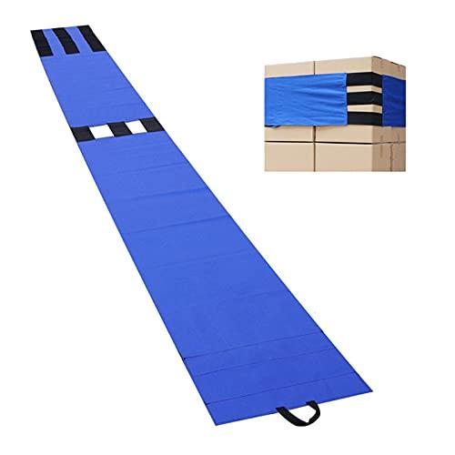 Cinturón de sujeción de carga para camiones 181.1 x 19.29 pulgadas, cinturón de encuadernación de paletas de logística para electrodomésticos en movimiento, equipos de césped, motocicleta (azul)