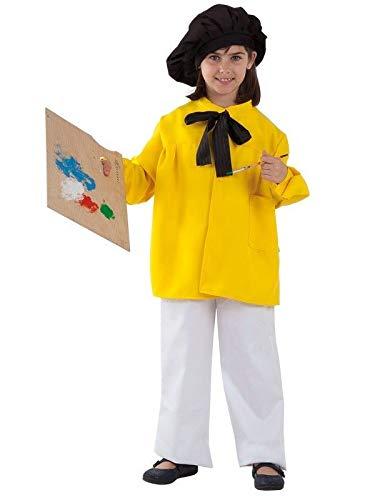 DISBACANAL Disfraz Pintor Picasso Infantil - Amarillo, 10 años