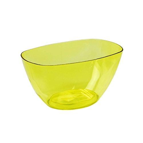 1,6 L Jaune transparent pflanz Coupelles fleurs Coque Décoration rigide Pot de fleurs décoratif Assiettes