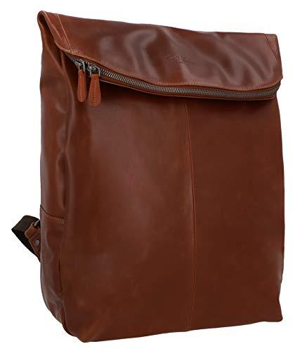 Gusti Leder studio ''Neal'' zaino di pelle per il laptop portatile 15' Apple MacBook 15'' design classico vintage marrone 2M52-20-2
