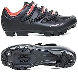 Sapatilha Ciclismo Bike Absolute Nero Mtb. (Preta c/Vermelho, 39)