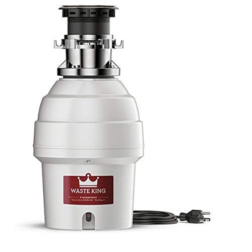 Waste King L-5000TC Batch Feed Garbage Disposal with Power Cord, 3/4 HP