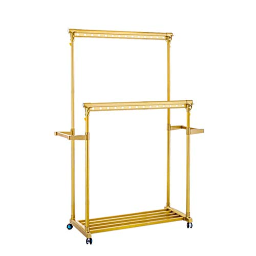 Tendedero Extensible Vertical Balcon Tenderete Ropa Ropa Plegable (Color : Gold, Size...