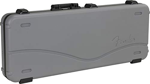 Fender Accessories Deluxe Molded Strat/Tele, Silver/Blue Electric Guitar Case (996102324)