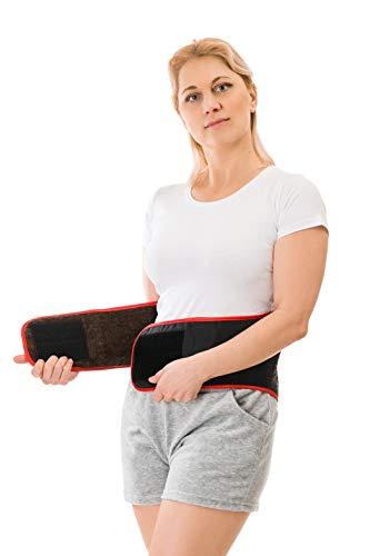 AVVA LAV TAIGA Wärmegürtel aus Wolle für Damen und Herren zum Schutz vor Kälte und Zugluft im Lendenbereich Nierenschutz Rückenwärmer Elastische Bauch Taille Unterstützung (XXL)