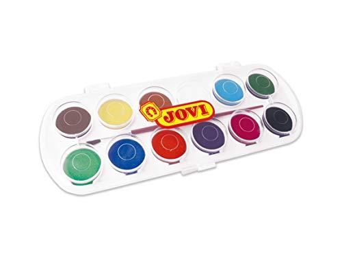 Jovi - Acuarelas, estuche con 12 pastillas de 30 mm, colores surtidos (830/12)