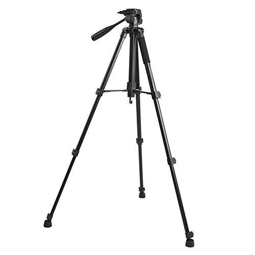 2-in-1 statief, draagbaar 2 kg draagvermogen 360o 455-1465 mm telescoop, opvouwbaar multifunctioneel reisstatief voor panorama/verticale opnames monopod klimstok