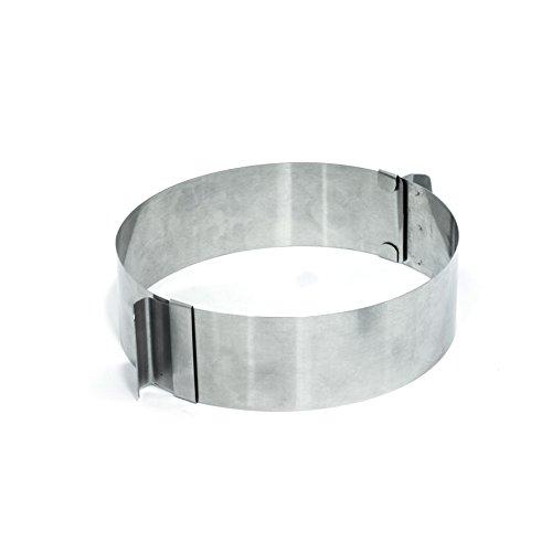Cuisy KC2196 Cercle Extensible 8.5 à 15 cm, INOX, Argent, 16,5 x 13,2 x 5 cm