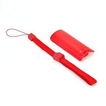 Battery Door Lid Cover Back Cover Pack Case Shell + Hand Strap Lanyard for Nintendo Wii Remote Controller Replacement  Red