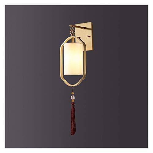 Lámpara de pared, Lámpara de pared moderna china lámpara de pared zen-like cobre luz de pared para el dormitorio balcón salón fondo lámpara de pared chino estilo luz lámparas de lujo sala de estar lám