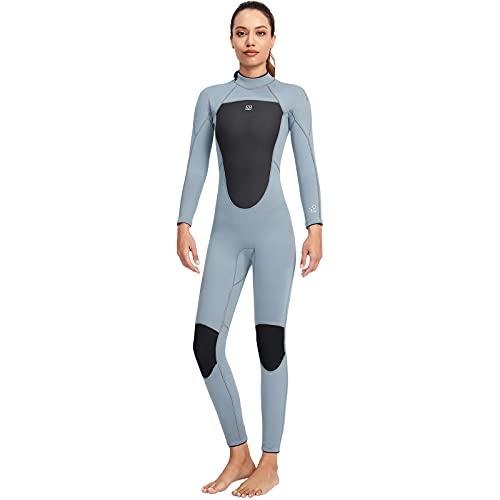 Damen Neoprenanzug Ultra Stretch Damen Neopren Neoprenanzug 3 mm Tauchanzug Damen Einteiler Langarm kältebeständiger Schnorchel Surfanzug für Damen