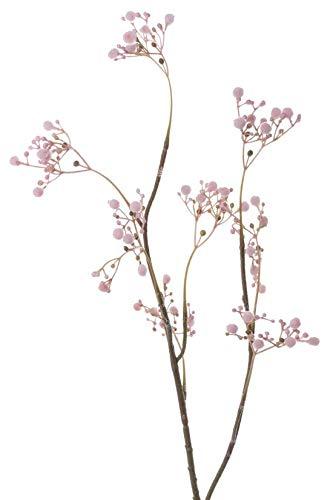 artplants.de Set 9 x Ramas sintéticas de Velo de Novia Asana, Rosa, 65cm, Ø0,5cm - Gypsophila Artificial - Pack de gisófilas de plástico