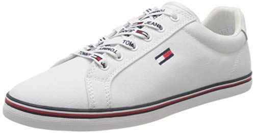 Tommy Hilfiger Essential Lace Up Sneaker, Zapatillas para Mujer, Blanco (White Ybs), 39 EU