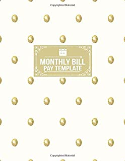 Monthly Bill Pay Template: Payment Planner Organizer Record Notebook