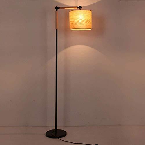 GYW-YW Suelo de uplighter Lámparas de pie, Led arte creativo Lámpara de piso, diseñador de madera maciza Salón Dormitorio Estudio de noche Pesca, Luz Sofá-El cuidado de los ojos de luz vertical