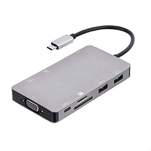 Amazon Basics – Estación de acoplamiento tipo C USB 3.1 de aluminio...