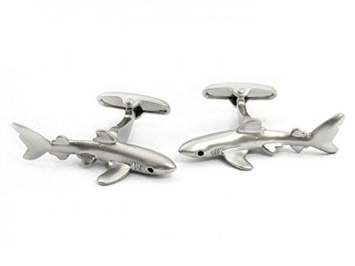 Boutons de manchette tibur-n 3D- Shark Safari Collection | Pour hommes et garçons | Cadeaux pour mariages, communions, baptêmes et autres événements