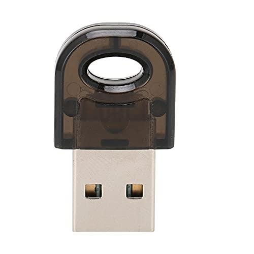 Adaptador USB Bluetooth, Adaptador Bluetooth Versión 5.0, Chip Importado USB 3Mbps RTL8761B Negro con CD para Computadora, con Excelente Función Anti-Interferencia.