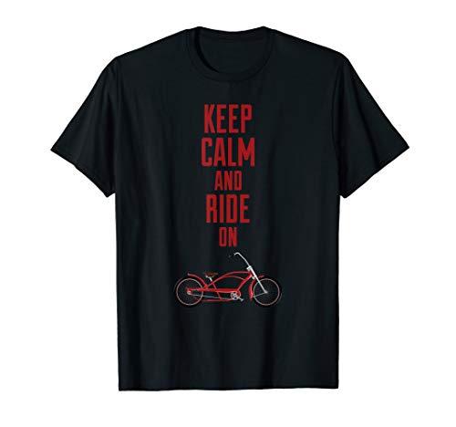 Keep calm Spruch Radfahren Biker Beachcruiser Retro Vintage T-Shirt
