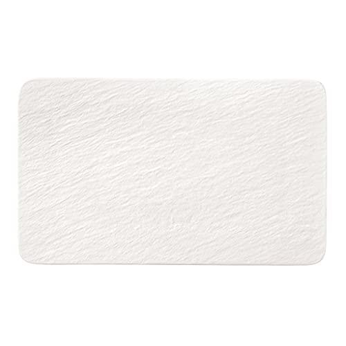 Villeroy & Boch - Manufacture Rock blanc plato multiusos rectangular, bonito plato universal de porcelana premium, apto para lavavajillas, blanco