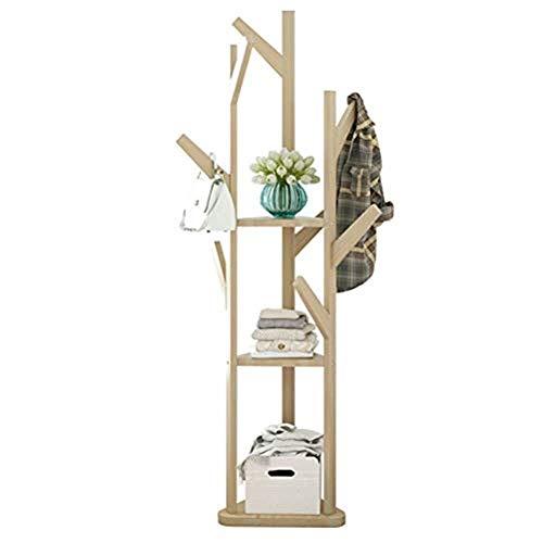 Percha de pie bastidores de altura 170 cm madera sólida de madera simple capa de pie ramificaciones de la puerta de la puerta de la puerta de la entrada de la puerta del vestíbulo de la puerta del haz