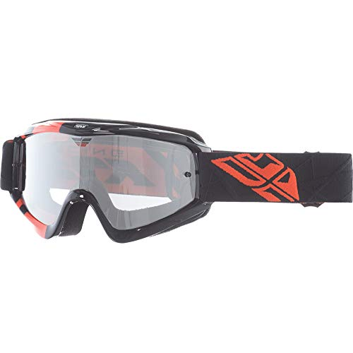 Fly Racing Zone Youth Goggle (Black/Orange/Clear/Flash Chrome, One Size)