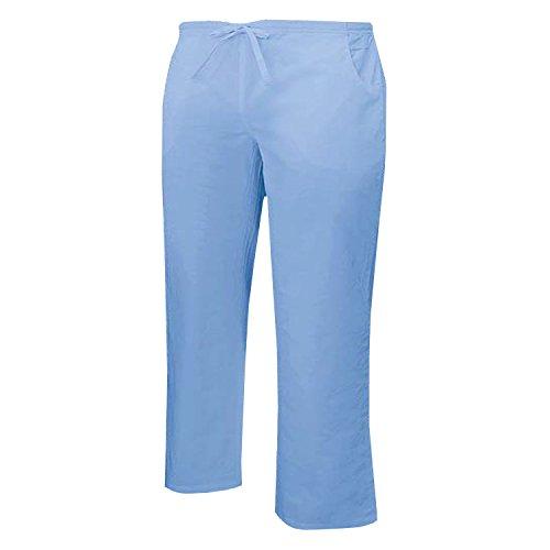 MISEMIYA - Pantaloni Vita Bassa con CORDONE Uniforme Lavoro Clinica Ospedale Pulizia Veterinario IGIENE OSPITALITÁ - Ref.Q8182 - Small, Pantaloni - Celeste