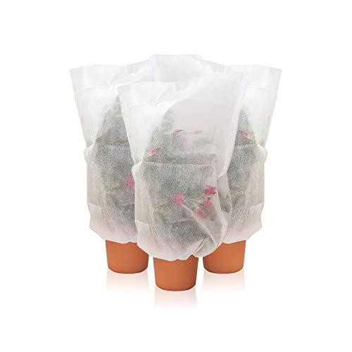 Amazy Schutzhülle für Pflanzen (3er Set | S) – Der praktische Kübelpflanzensack aus Vlies schützt empfindliche Topfpflanzen vor Frost, Wind und Niederschlag (80 x 60 cm)