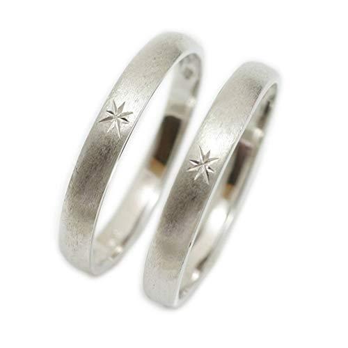 [ココカル]cococaru ペアリング 2本セット シルバー マリッジリング 結婚指輪 日本製 (レディースサイズ8号 メンズサイズ6号)