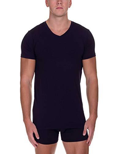 bruno banani Herren V-Shirt Infinity Unterhemd, Blau (Dunkelblau 090), Large (Herstellergröße: L)
