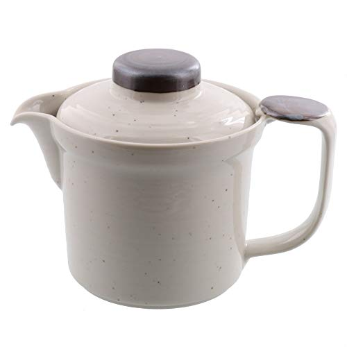 テーブルウェアイースト広口ポット400cc(粉引)急須ポット茶こし付き
