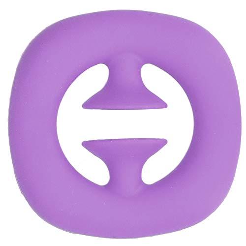 URRNDD Agarre de Mano de Silicona Ejercicio de músculos de la Mano Entrenamiento de Fuerza Masaje Agarre Juguete para aliviar el estrés Adecuado para niños Adultos(púrpura)