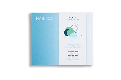 Naïf El Kit Facial (Crema de Día, Crema de Noche, Exfoliante Facial) 350 g