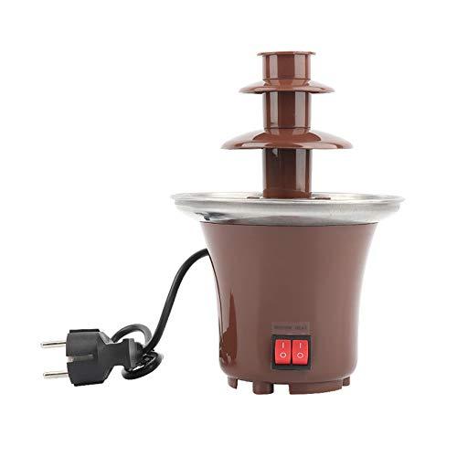 BLLXMX Mini Schokoladenbrunnen Fondue Set, 3-Tier Schokoladenfondue Fountain Electric Edelstahl Warmhaltefunktion Schokoladen-Brunnen
