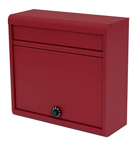 【Amazon.co.jp 限定】グリーンライフ(GREEN LIFE) 郵便ポスト 薄型スチールポスト ダイヤル錠 FH-614D(RE) A4封筒が入る 奥行14.0×高さ35.0×幅37.0cm レッド