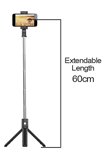 Hoteon Mobilife Bluetooth Extendable Selfie Stick with Wireless Remote and Tripod Stand for iPhone X/iPhone 8/8 Plus/iPhone 7/iPhone 7 Plus/Galaxy Note 8/Google More (Black)