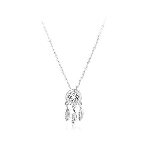 xinxinchaoshi Pendant Necklace Dream Catcher Clavicle Chain Female Necklace Super Fairy Wild Personality Gift Dream Catcher Necklace Fashion Jewelry (Color : Gold)